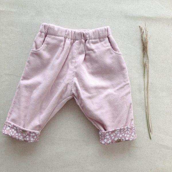 Pantalón Pana Rosado