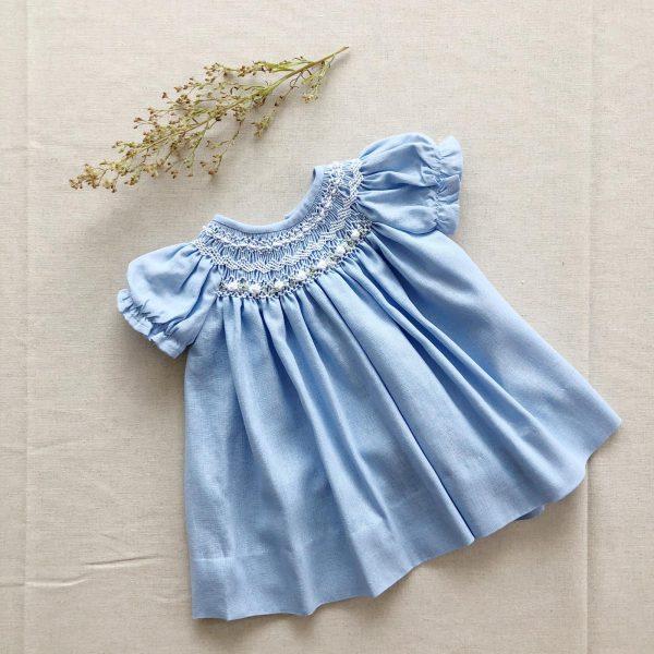 Vestido Canesú Milu Celeste