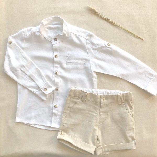 Camisa Mao Lino Blanca