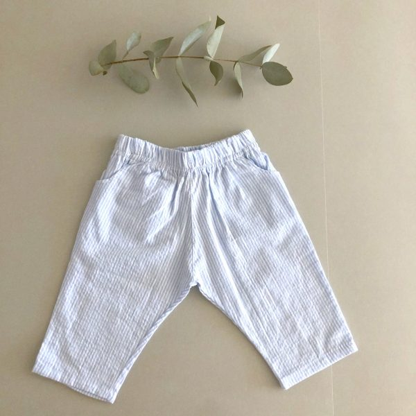 Pantalón Rayas Celeste