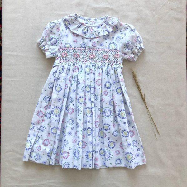 Vestido Smock Flores