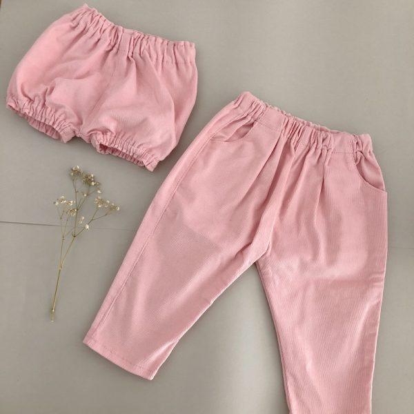 Pantalón bebé rosa