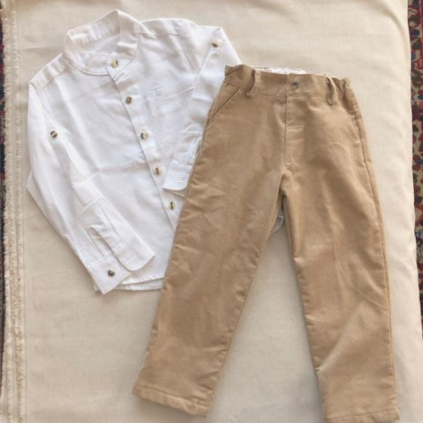 Pantalón kids pana – beige