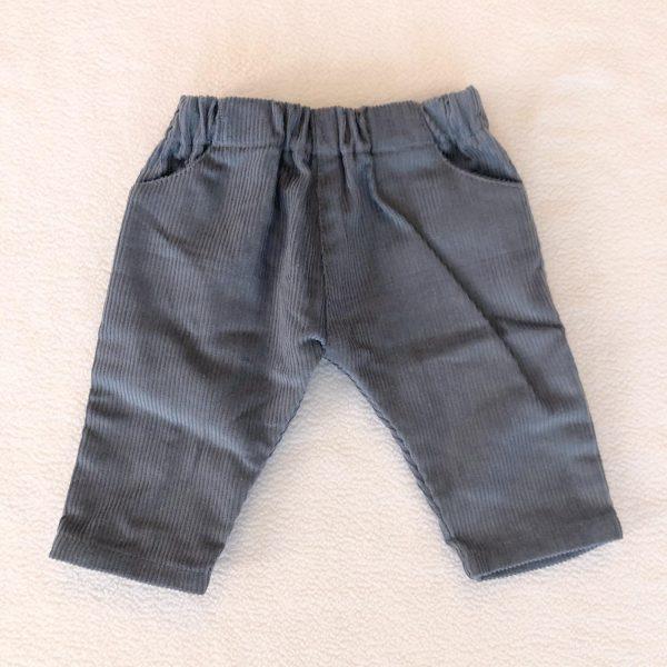 pantalón bebé pana azul