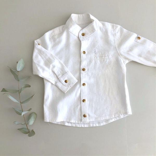 Camisa Mao Lino Blanca N